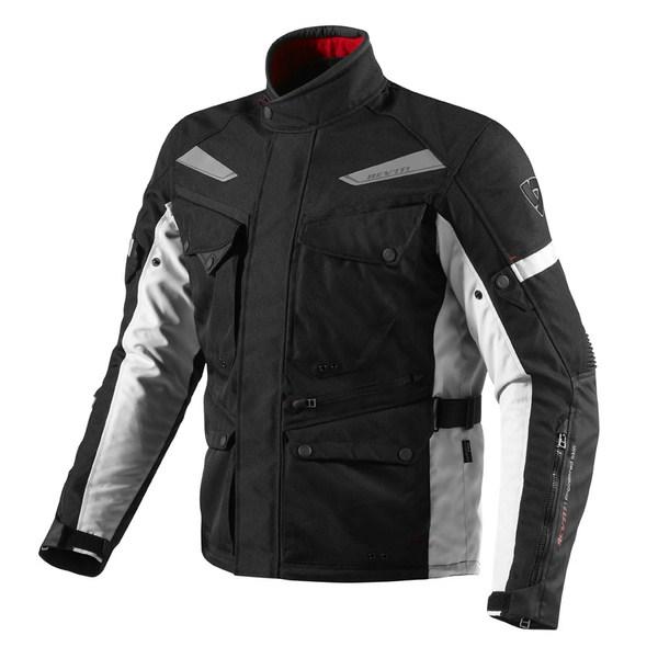 Motorcycle jacket Rev'it Outback Black Silver