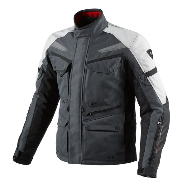 Motorcycle jacket Rev'it Outback Charcoal Silver