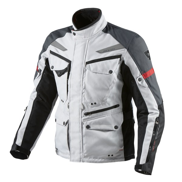 Motorcycle jacket Rev'it Outback Silver Anthracite
