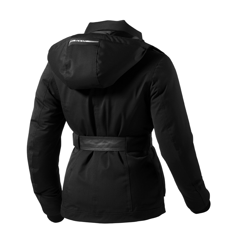 Woman motorcycle jacket Rev'it Ladies Black Crescent