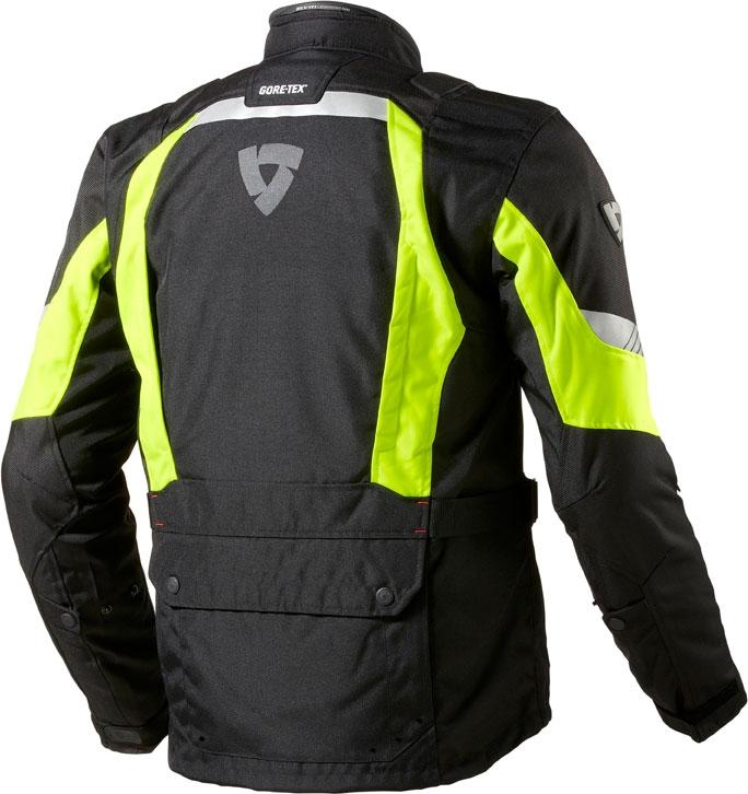 Rev'it Neptune GTX HV motorcycle jacket black yellow neon