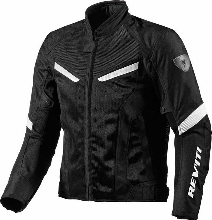 Motorcycle jacket Rev'It GT-R Black White Air
