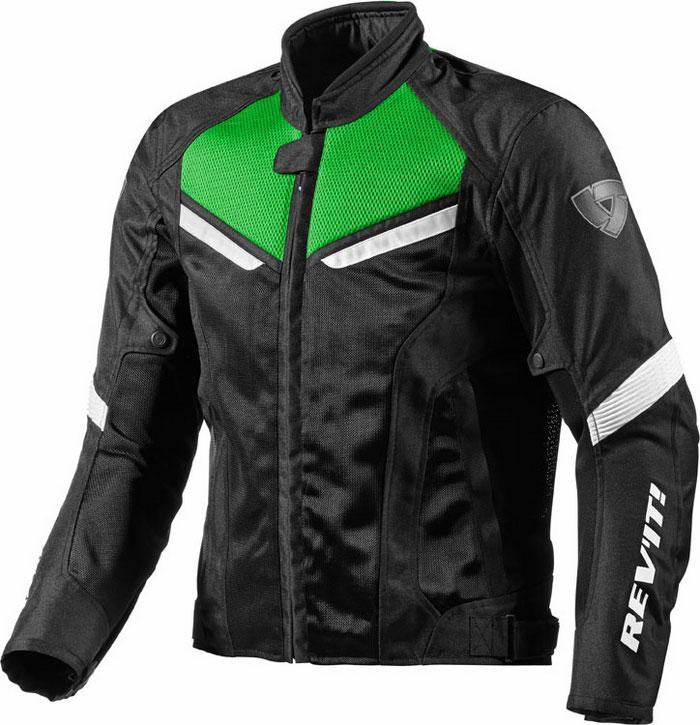 Giacca moto Rev'It GT-R Air Nero Verde acido