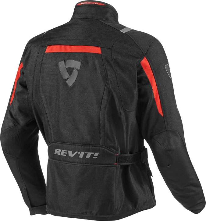 Giacca moto Rev'it Voltiac nero rosso