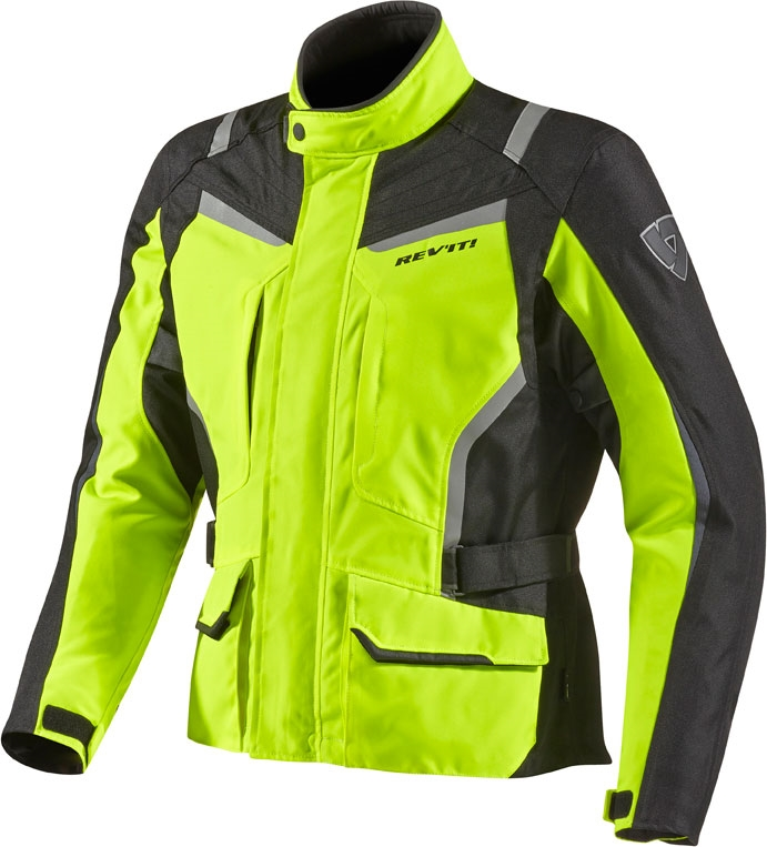 Rev'it Voltiac HV motorcycle jacket black yellow neon