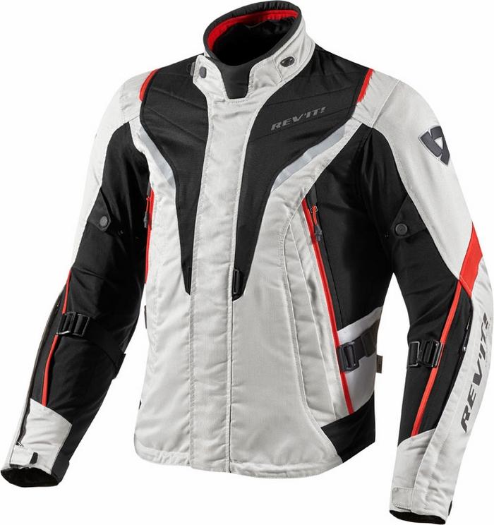 Rev'it Vapor motorcycle jacket silver red