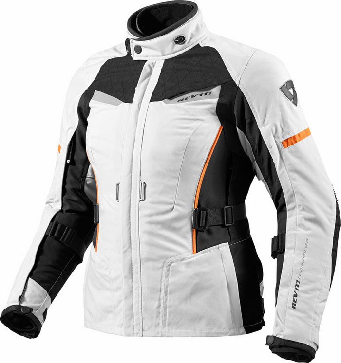 Woman motorcycle jacket Rev'It Sand Ladies Silver Blac