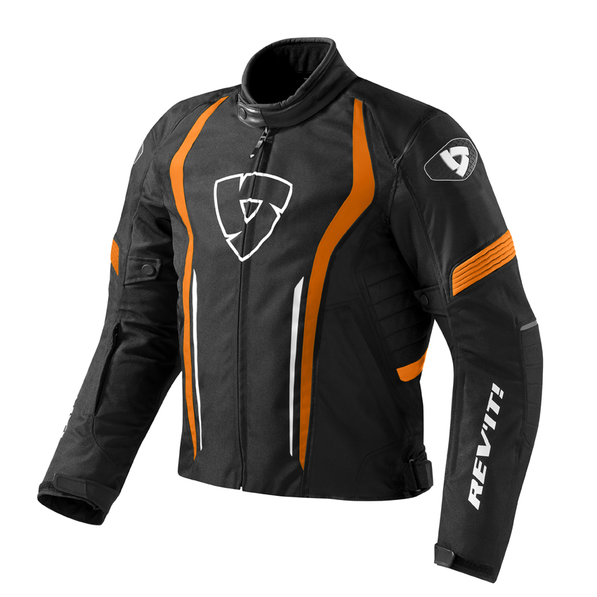 Giacca moto Rev'it Shield Nero Arancio