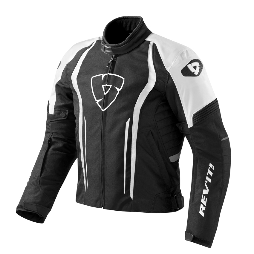 Giacca moto Rev'it Shield Nero Bianco