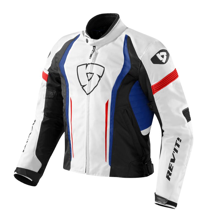 Giacca moto Rev'it Raceway Bianco Blu