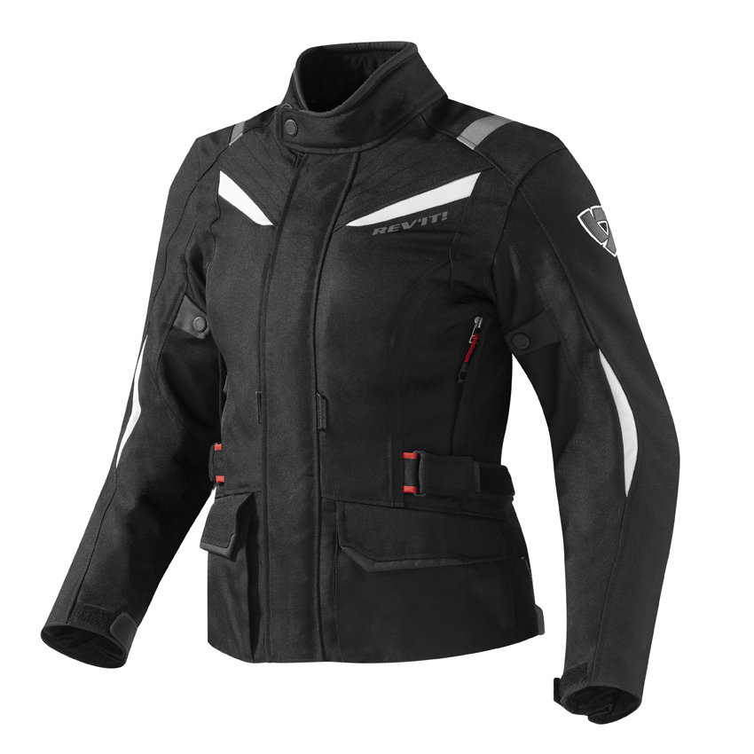 Giacca moto donna Rev'it Voltiac Ladies Nero Bianco