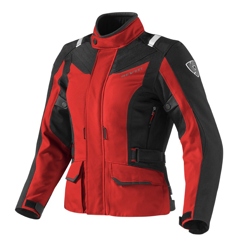 Giacca moto donna Rev'it Voltiac Ladies Rosso Nero