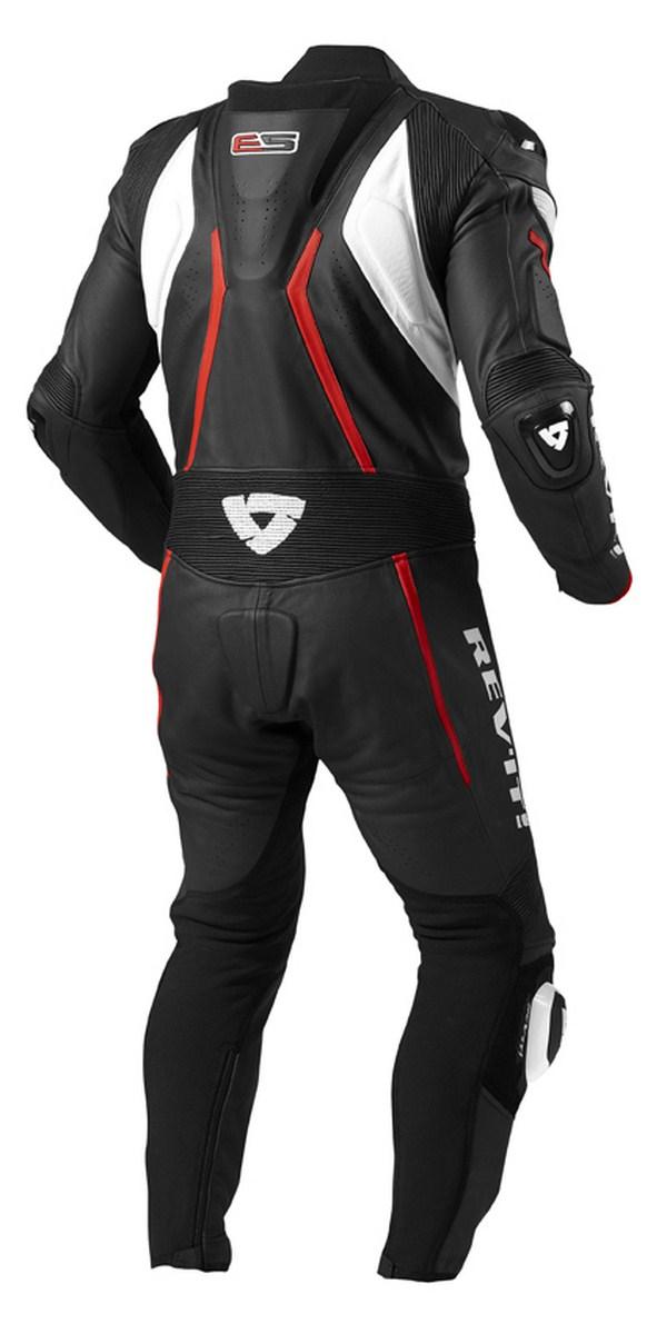 Leather biker motorcycle jacket Rev'it Hunter Black Red