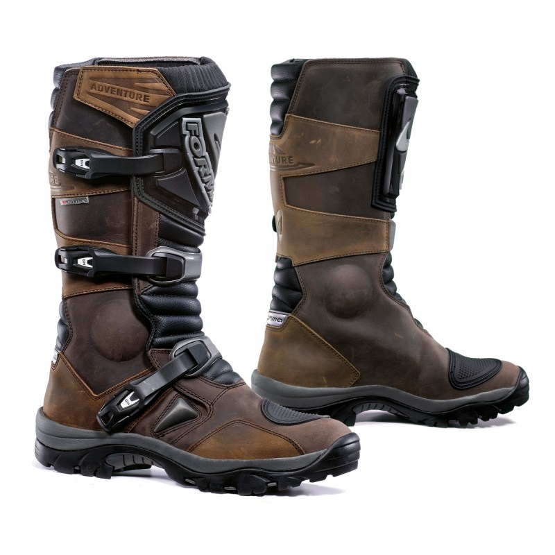 Enduro Adventure Brown Leather Boots Form