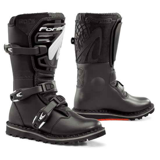 Baby leather boots trial Forma Black Rock