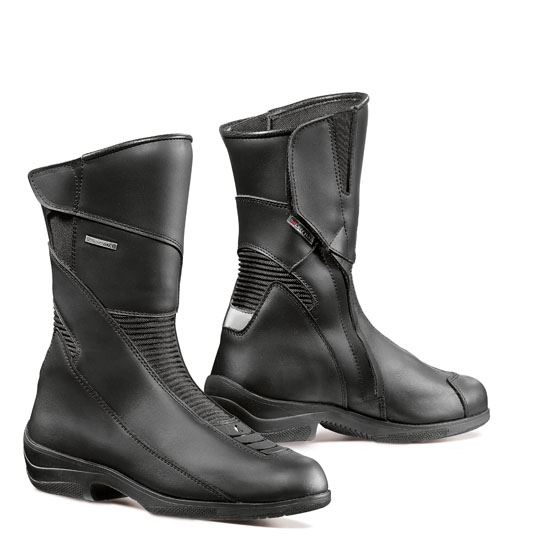 Woman leather motorcycle boots Forma Simo Black
