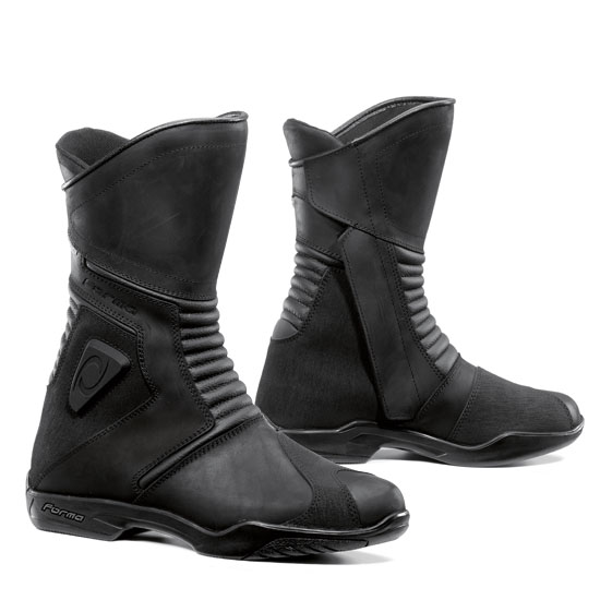 Form Voyage Black leather motorcycle boots