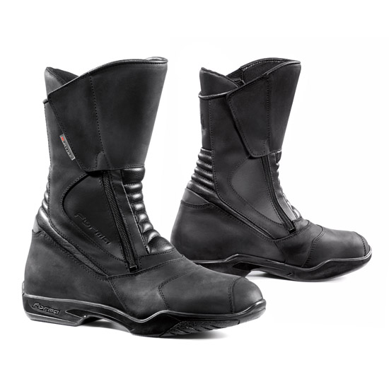 Form Horizon Black leather motorcycle boots