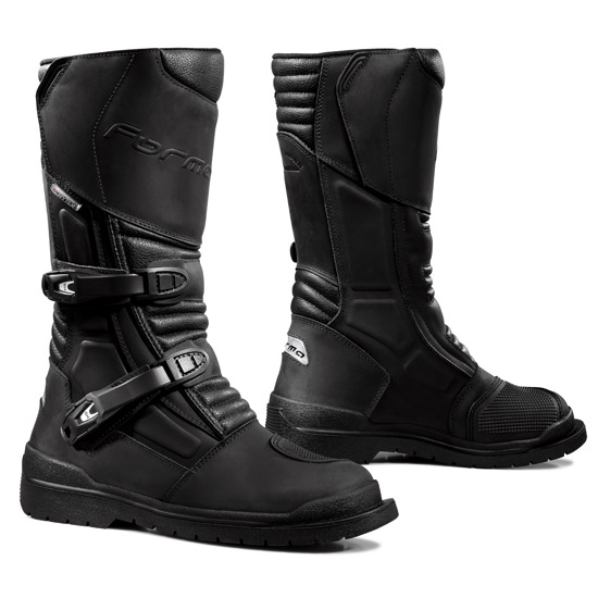 Leather motorcycle boots Cape Horn Forma Black