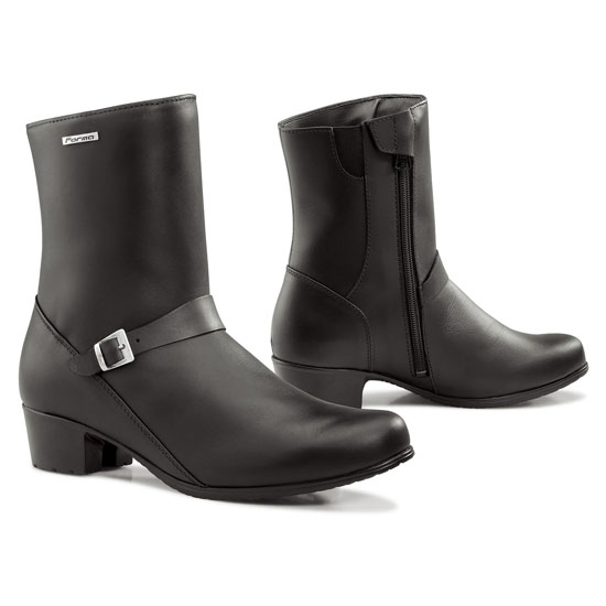 Motorcycle Boots Women Black Leather Forma Vogue