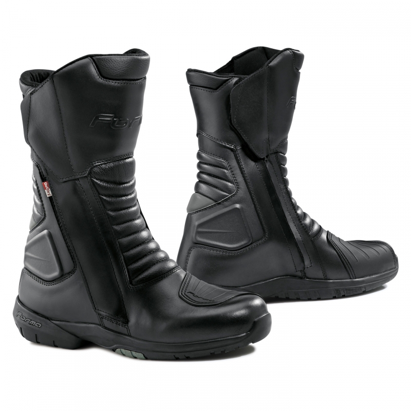 Form Cortina leather motorcycle boots Outdry Black
