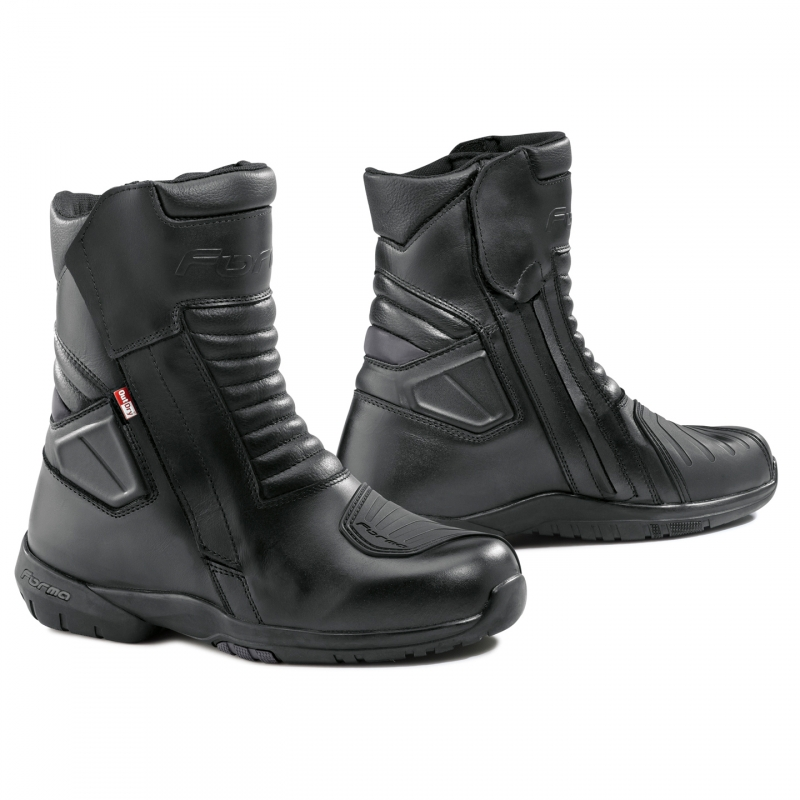 Leather motorcycle boots Forma Fuji Outdry Black