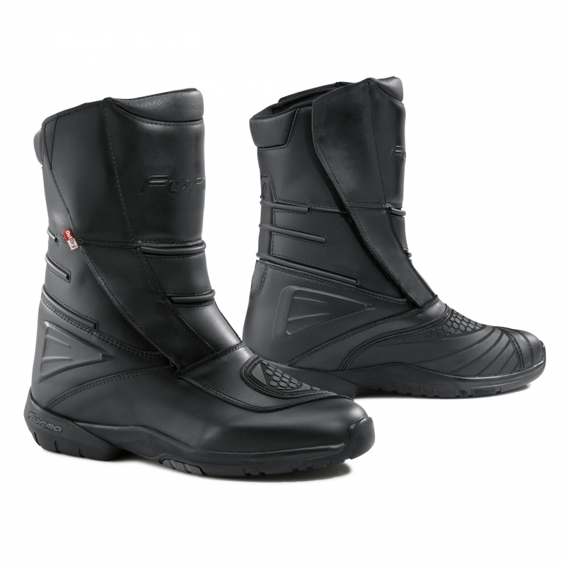 Leather motorcycle boots Forma La Paz Outdry Black