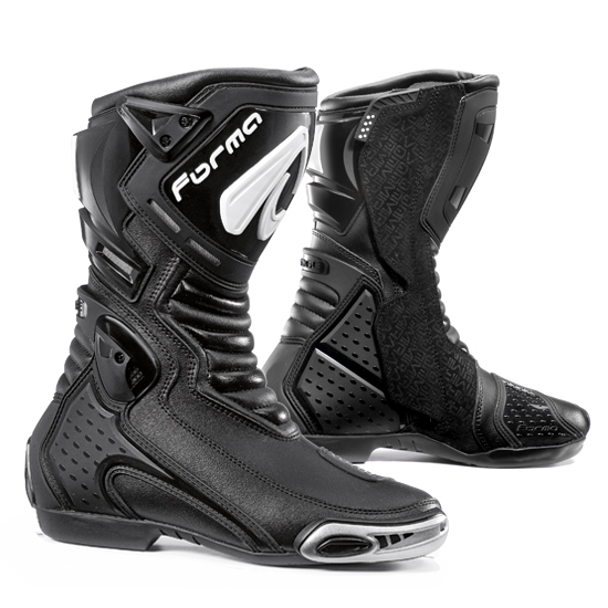 Form Mirage Black leather motorcycle boots
