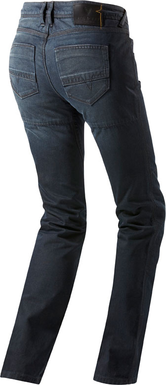 Jeans moto donna Rev'it Brodway Ladies blu scuro L32