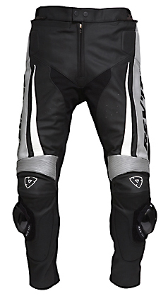 REV'IT! GT Leather Trousers - Col. Black/White