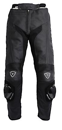 Pantaloni moto donna in pelle Rev'it GT Ladies nero