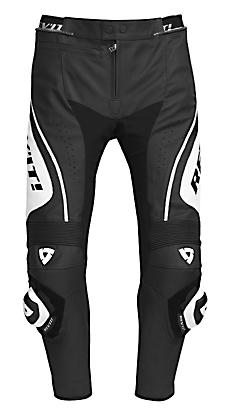 Pantaloni moto in pelle Rev'it Apollo bianco-nero