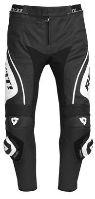 Pantaloni moto in pelle Rev'it Apollo Bianco-Nero - Accorciato