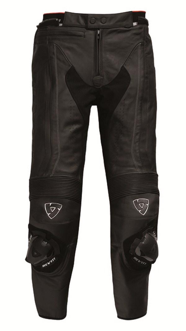 Pantaloni moto pelle Rev'it Warrior Nero - Accorciato
