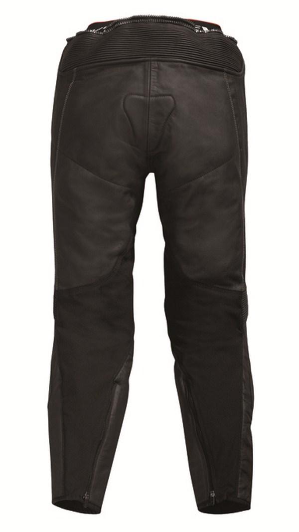 Pantaloni moto pelle Rev'it Warrior Nero Bianco