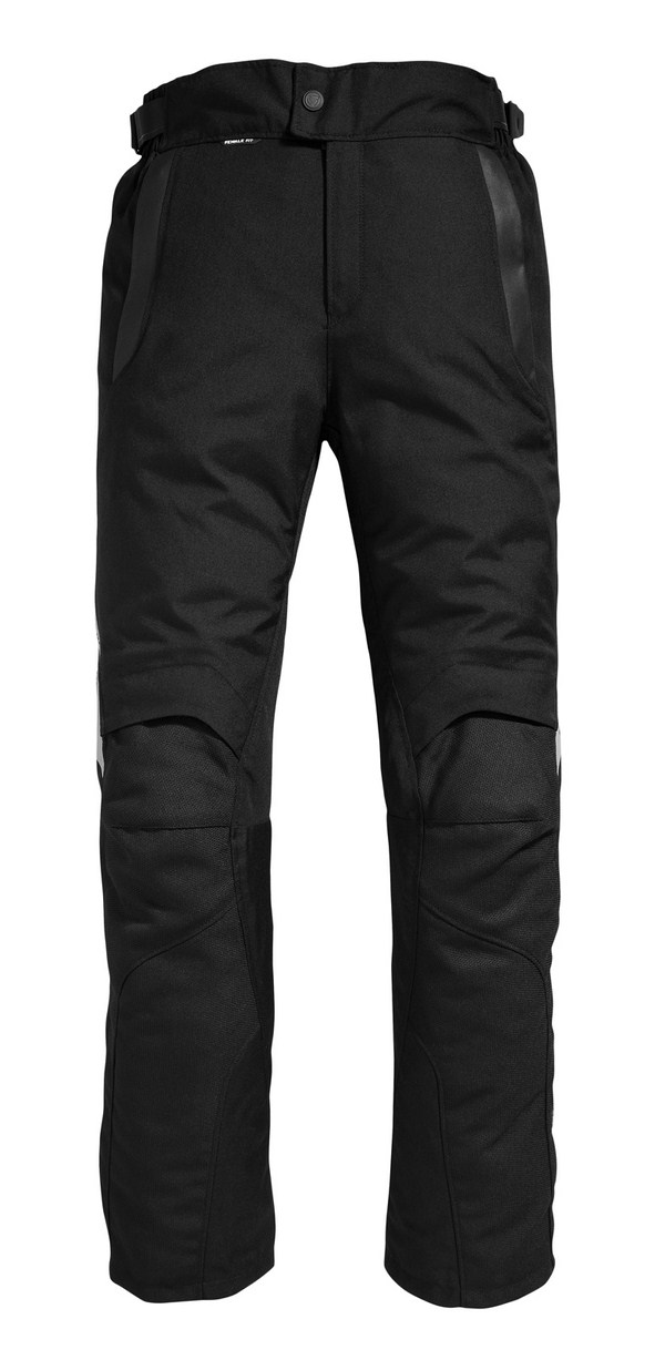 Pantaloni moto donna Rev'it Factor 2 Nero - Accorciato