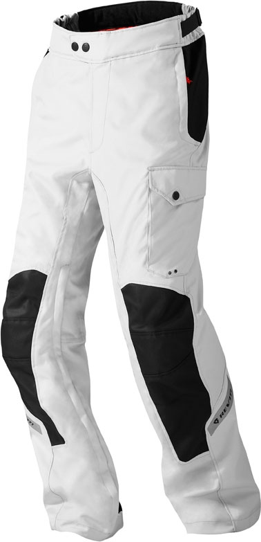 Pantaloni moto Rev'it Enterprise argento neri accorciati