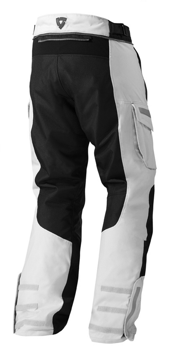 Motorcycle pants Rev'it Sand 2 Silver Black - Stretched