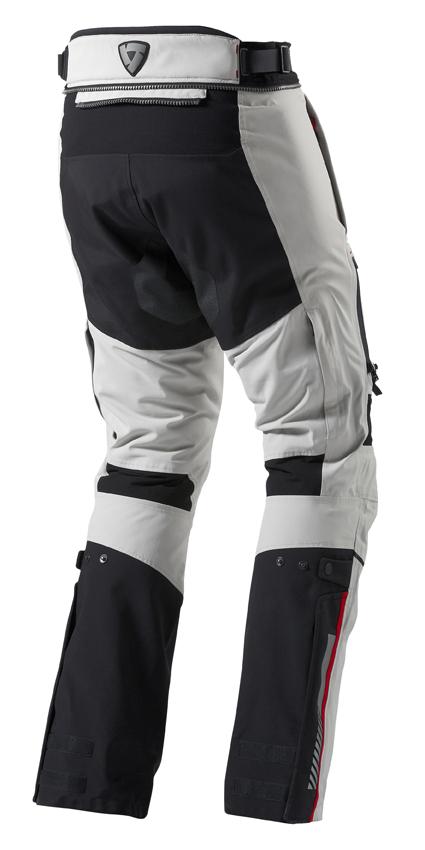 Motorcycle trousers Rev'it Poseidon GTX Grey Black - Shorten