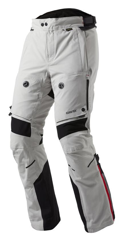 Pantaloni moto Rev'it Poseidon GTX Grigio chiaro Nero - Allungat