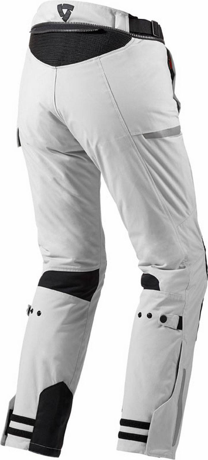 Pantaloni moto donna Rev'It Sand Ladies Argento Nero Accorciato