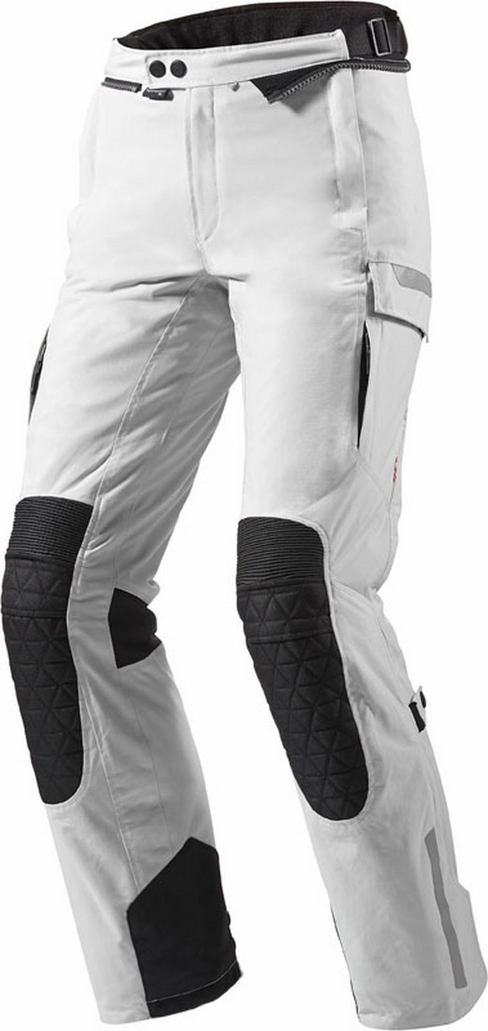 Pantaloni moto donna Rev'It Sand Ladies Argento Nero Allungato