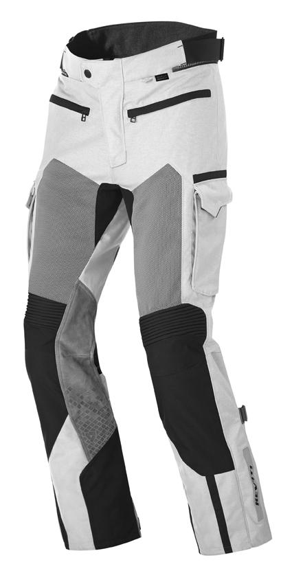 Pantaloni moto Rev'it Cayenne Pro Grigio chiaro Nero