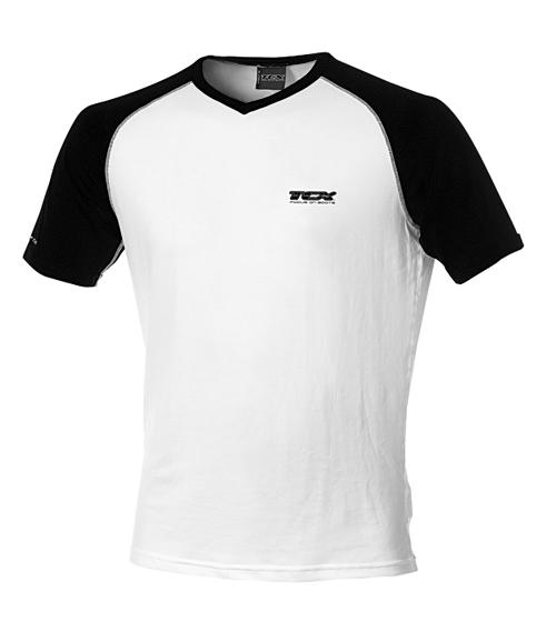TCX summer short sleeved t-shirt White-Black