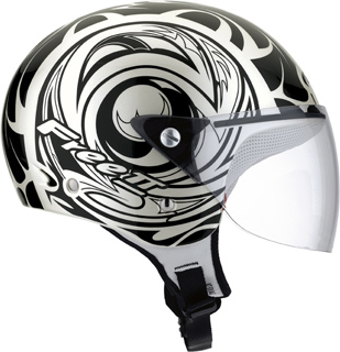 Casco moto Mds by Agv Free II Multi Tattoo bianco perla-nero