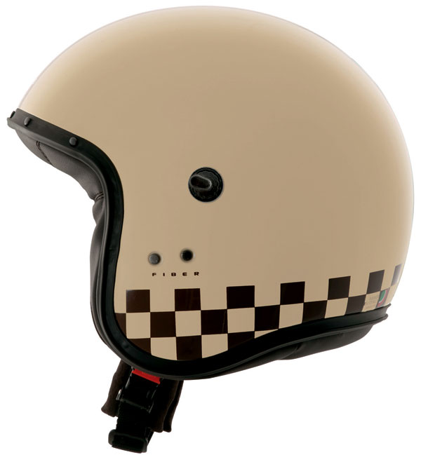 Casco jet Caberg Freeride Indy Crema Marrone
