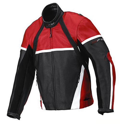 Hy Fly Game leather jacket Black Red White