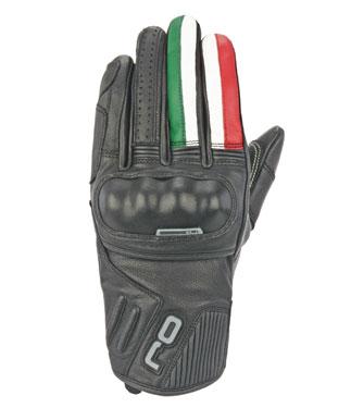 Guanti moto pelle OJ FIGHTER ITALIA con nocche coperte in pelle