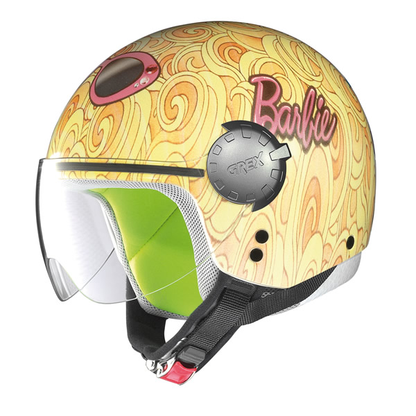 Demi-jet helmet child Grex G1.1 Fancy  Mattel yellow