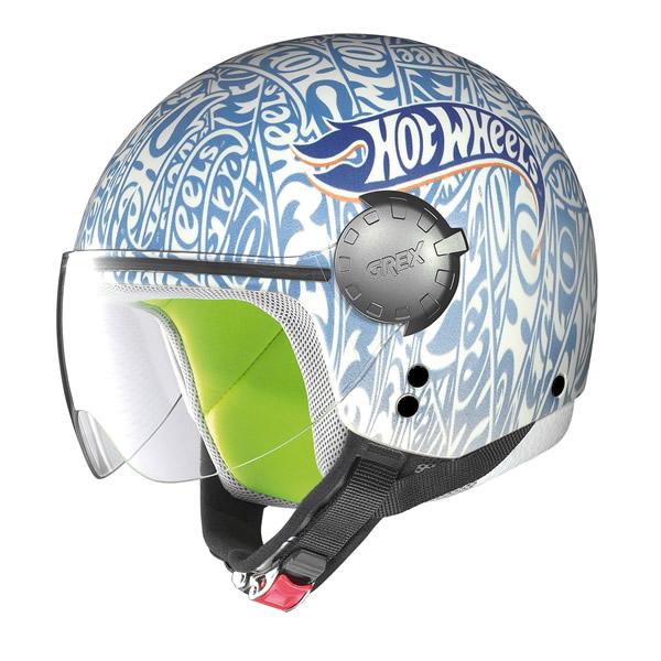Demi-jet helmet child Grex G1.1 Fancy  Mattel blue
